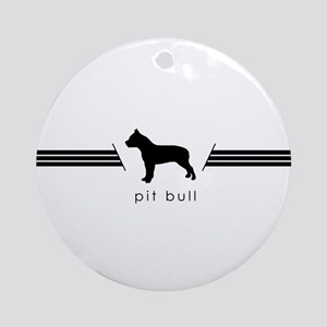 Pit Bull Ornament (Round)