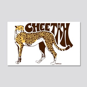 Cheetah 20x12 Wall Decal