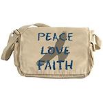 Peace Love Faith Messenger Bag