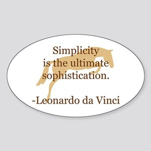 simplicity quote w/ jumper horse Oval Sticker