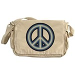 Blue Peace Symbol Messenger Bag