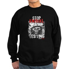 STOP ANIMAL TESTING - Sweatshirt (dark)