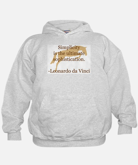 simplicity quote w/ jumper horse Hoodie