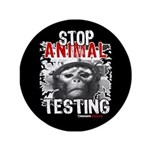 "STOP ANIMAL TESTING - 3.5"" Button (100 pack)"