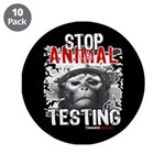 "STOP ANIMAL TESTING - 3.5"" Button (10 pack)"