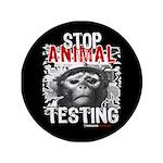 "STOP ANIMAL TESTING - 3.5"" Button"