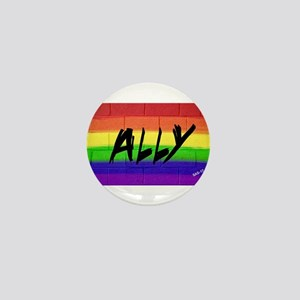 ALLY gay rainbow art Mini Button (10 pack)
