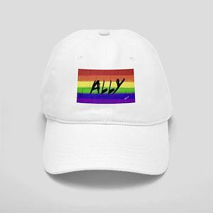 ALLY gay rainbow art Cap