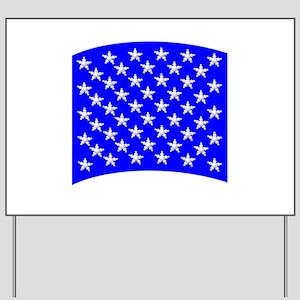 50_stars_blue Yard Sign