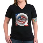 Challenger Classic Women's V-Neck Dark T-Shirt