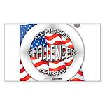 Challenger Classic Sticker (Rectangle)