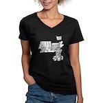 School Girl Women's V-Neck Dark T-Shirt