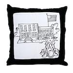 School Girl Throw Pillow