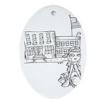 School Girl Ornament (Oval)