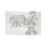 School Girl Rectangle Magnet (100 pack)