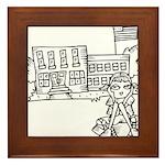 School Girl Framed Tile