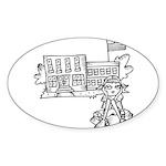 School Girl Sticker (Oval)