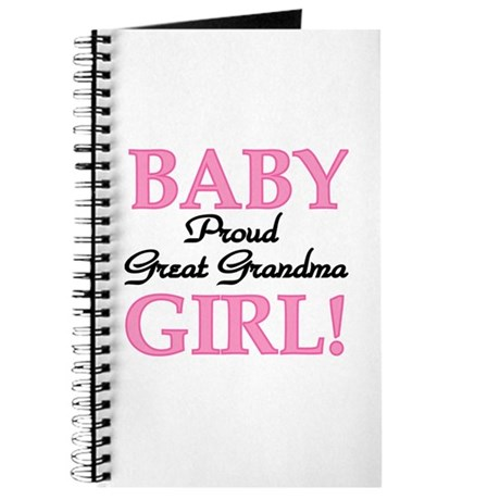Baby Girl Great Grandma Journal
