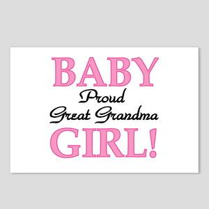Baby Girl Great Grandma Postcards (Package of 8)
