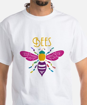 bee stamp colour T-Shirt