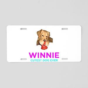 Winnie - Cutest Dog Ever Aluminum License Plate