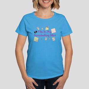 This Is My Scrapbooking Shirt Women's Dark T-Shirt