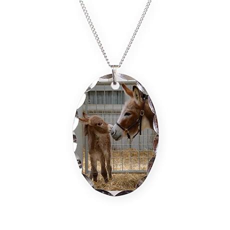 Newborn - Necklace Oval Charm
