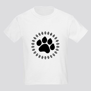 Black Paw Print Kids Light T-Shirt
