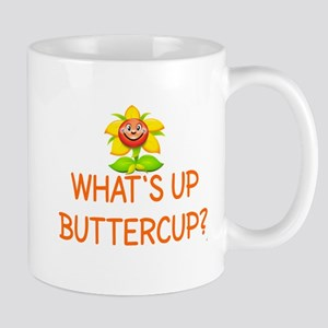 WHAT'S UP BUTTERCUP? Large Mugs