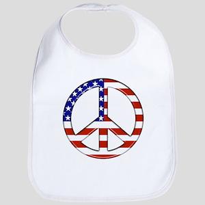 American flag/Peace Bib