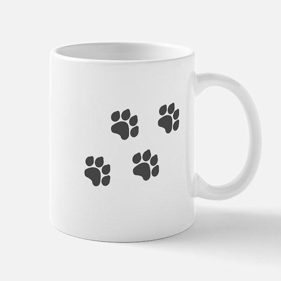 Black Paw Prints Mug