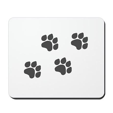 Black Paw Prints Mousepad