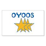 OYOOS Stars design Sticker (Rectangle 50 pk)