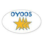 OYOOS Stars design Sticker (Oval 50 pk)