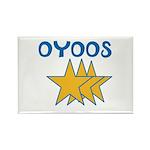 OYOOS Stars design Rectangle Magnet (10 pack)