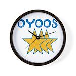 OYOOS Stars design Wall Clock