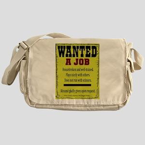 Job Wanted Messenger Bag