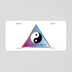 Peace, Balance, Namaste Aluminum License Plate