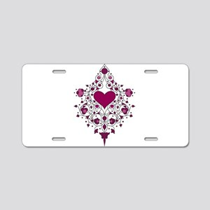 Hearts and Vines Aluminum License Plate