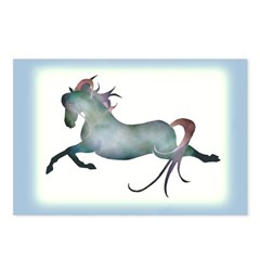 blue moon horse & hearts Postcards (Package of 8)