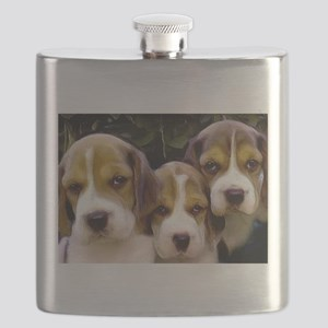 Beagle puppies Flask