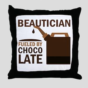 Beautician Chocoholic Gift Throw Pillow