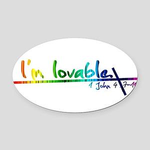 rainbow shirt design Oval Car Magnet