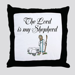 The Lord is my Shepherd Throw Pillow