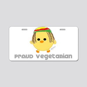 Proud Rasta Vegetarian Aluminum License Plate