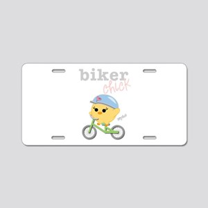 Biker Chick Aluminum License Plate