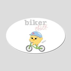 Biker Chick 22x14 Oval Wall Peel