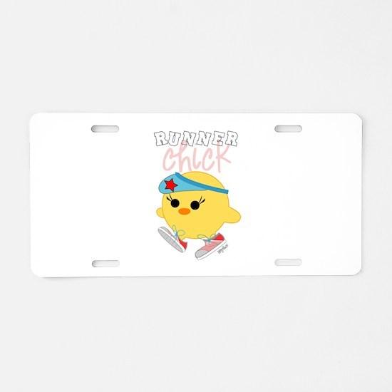 Runner Chick Aluminum License Plate