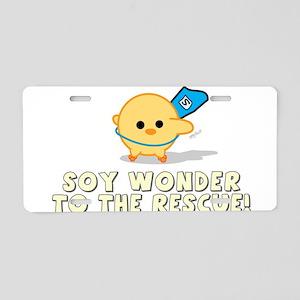 Soy Wonder Aluminum License Plate