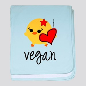 Vegan Love baby blanket